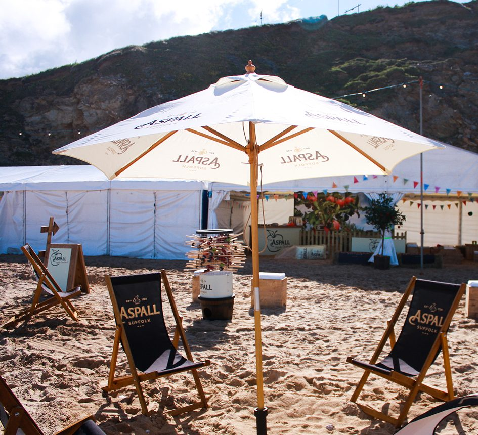 Aspall Cider Branding Beach Party Event Experiential Live Events Agency Film Studio Marketing Advertising Sublime Promotions Lime Communications